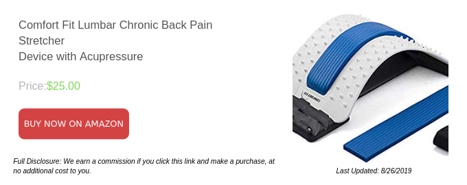 Comfort Fit Lumbar Chronic Back Pain Stretcher Device with Acupressure
