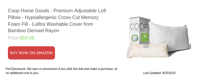 Coop Home Certipur Memory Foam Pillow