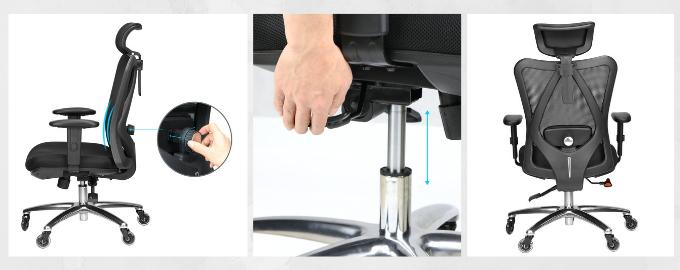 Chaise de bureau ergonomique réglable Duramont