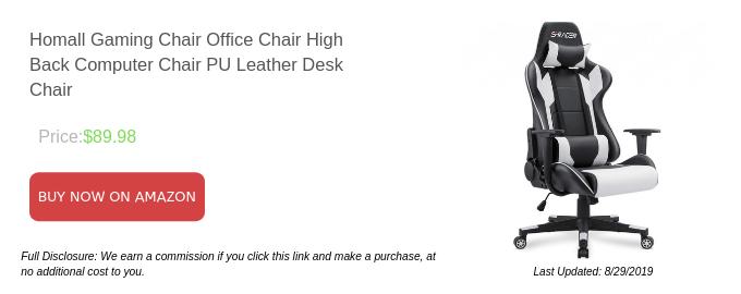 Homall Gaming Chair Chaise de bureau à dossier haut Chaise d'ordinateur Chaise de bureau en cuir PU