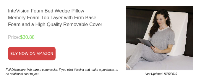 InteVision Foam Bed Wedge Memory Pillow