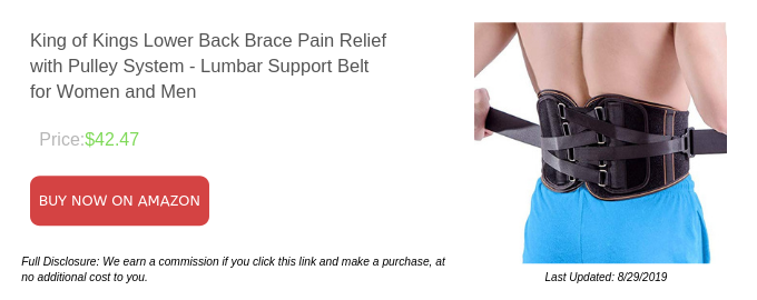 King of Kings Lower Back Brace Pain Relief with Pulley System - Lumbar Support Belt for Women and Men