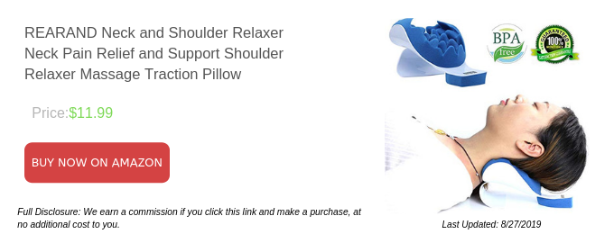 REARAND Neck and Shoulder Relaxer Neck Pain Relief and Support Shoulder Relaxer Massage Traction Pillow
