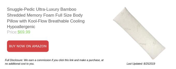Snuggle-Pedic Ultra-Luxury Memory Foam Pillow