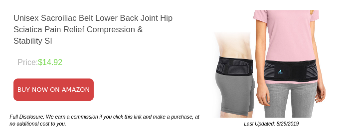 Unisex Sacroiliac Belt Lower Back Joint Hip Sciatica Pain Relief Compression & Stability SI